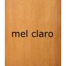 Armário Boleado larg. 1,90m 3 portas de correr com espelho alt. 2,38m