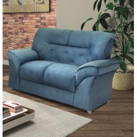 Sofá 2 Lugares 2084 Suede Azul