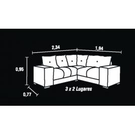 Sofá de Canto 5 Lugares 2083 Larg. 2,34x1,94m Suede Animale Marrom