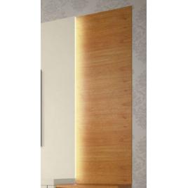 Rack com Painel Gamboa 2,40m Com Luminária Madeira Natural/Laca Branca
