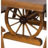 Conjunto de Mesa de Roda de Carroça 2,00x1,00m com Bancos com Encosto Madeira Maciça Rústica Imbuia