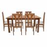 Conjunto de Mesa Las Vegas 1,60m Tampo de Madeira com 6 Cadeiras Olinda Diversos Tecidos Imbuia