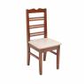 Conjunto de Mesa Redonda NR 0,90m com 4 Cadeiras Tecido Bege Imbuia