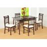 Conjunto de Mesa Verão 1,20m Tampo de Madeira com 4 Cadeiras Imbuia