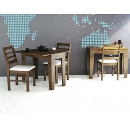 Conjunto de Mesa Aparador Top Extensível 1,10x0,45-0,76m Tampo de Madeira com 2 Cadeiras Top Imbuia