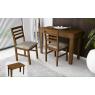 Conjunto de Mesa Aparador Top Extensível 0,45-0,76x1,10m Tampo de Madeira com 2 Cadeiras Top Diversos Tecidos Imbuia