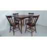 Conjunto de Mesa Brisamar Quadrada 0,80m Tampo de Madeira com 4 Cadeiras Imbuia
