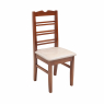 Conjunto de Mesa NR Quadrada 0,80m Tampo de Madeira com 4 Cadeiras Imbuia