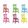 Conjunto de Mesa Infantil Quadrada 0,60m  Laca Branca com 4 Cadeiras Coloridas