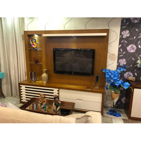 Home Teather Ipanema 1,80m Imbuia/Branco