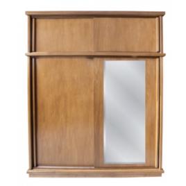 Armário Londres 2,00m com espelho 4 portas de correr alt. 2,35m