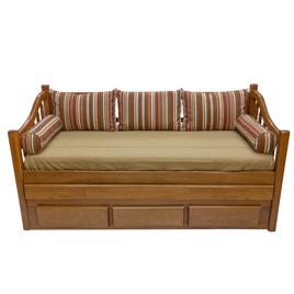 Bicama-sofá Solteiro 0,80m Torneada com 3 Gavetas