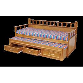 Bicama-sofá 3 gavetas Milano